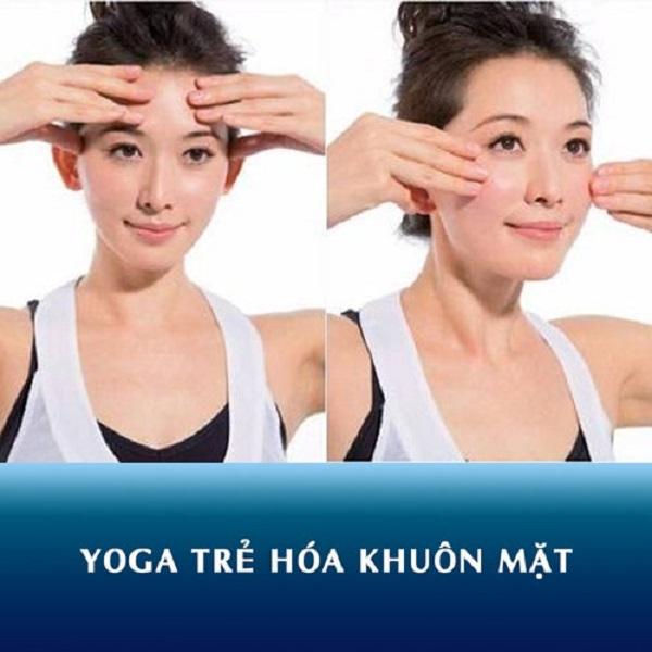 Bài tập Yoga kéo căng cơ da cho vùng trán