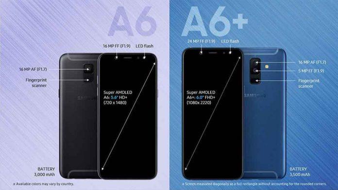 Chiếc Samsung A6 được hãng ưu ái trao cho nhiều tính năng cao cấp